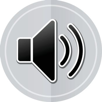 Illustration of sound sticker icon simple design