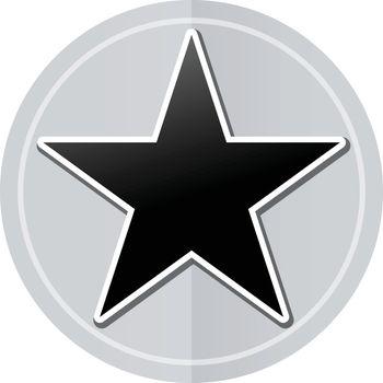 Illustration of star sticker icon simple design