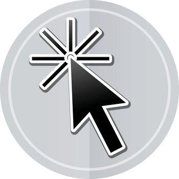 Illustration of cursor sticker icon simple design