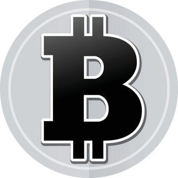 Illustration of bitcoin sticker icon simple design