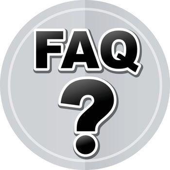 Illustration of faq sticker icon simple design