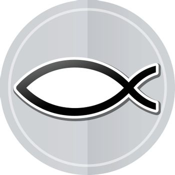 Illustration of jesus sticker icon simple design
