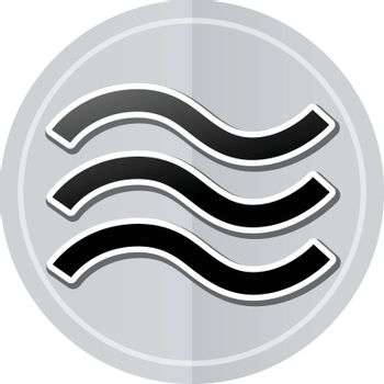 Illustration of waves sticker icon simple design