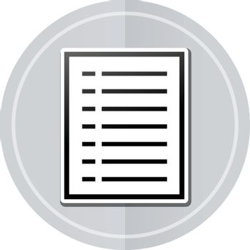 Illustration of document sticker icon simple design