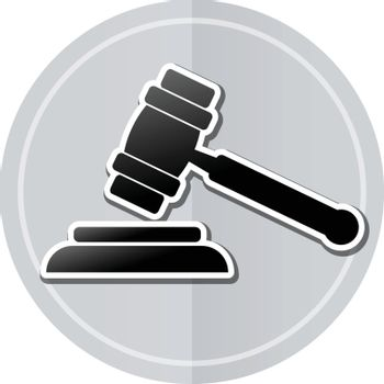 Illustration of judgment sticker icon simple design
