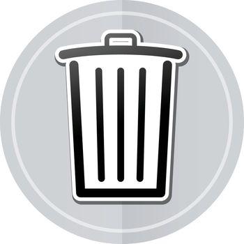 Illustration of delete sticker icon simple design