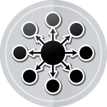 Illustration of seo sticker icon simple design