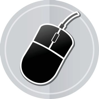Illustration of mouse sticker icon simple design