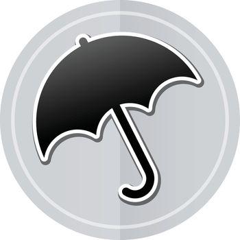 Illustration of umbrella sticker icon simple design
