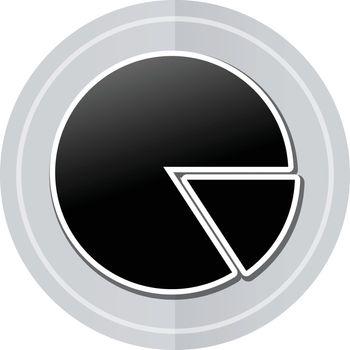 Illustration of pie sticker icon simple design