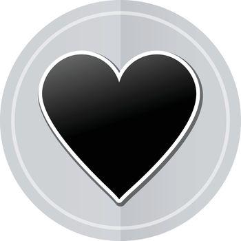 Illustration of heart sticker icon simple design