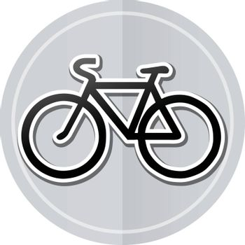 Illustration of bicycle sticker icon simple design