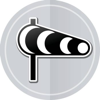 Illustration of wind sticker icon simple design