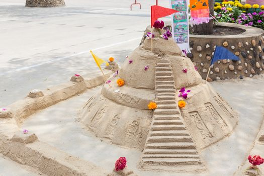 Sand pagoda ceremony, Cultural activities including sand sculptu