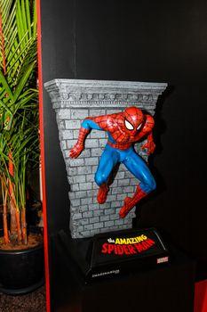 Bangkok - May 2: A Spiderman model in Thailand Comic Con 2015 on May 2, 2015 at Siam Paragon, Bangkok, Thailand.