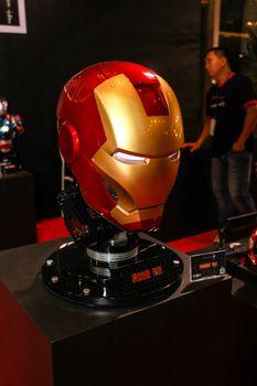 Bangkok - May 2: An Iron Man Mask model in Thailand Comic Con 2015 on May 2, 2015 at Siam Paragon, Bangkok, Thailand.