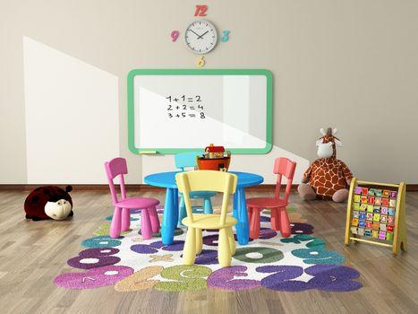 sweet interior decor render for kids room by sedat seven