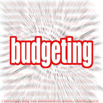 Budgeting word cloud