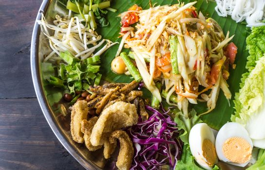 Papaya Salad Famous Thai Food, Somtum