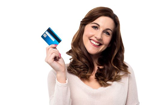 Shop easy with credit card.