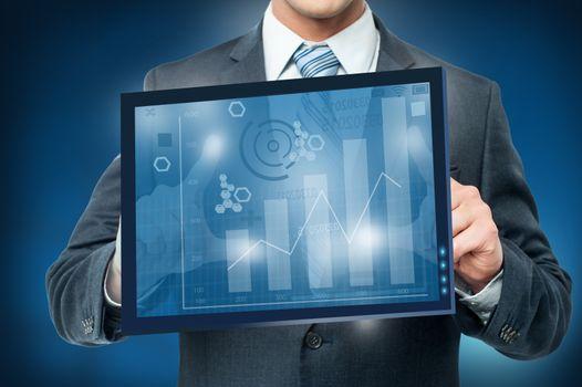 Framing digital virtual screen, business concept