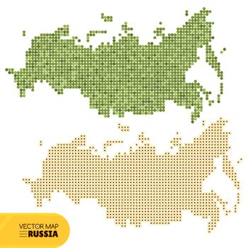 Vector dotted map of Russia