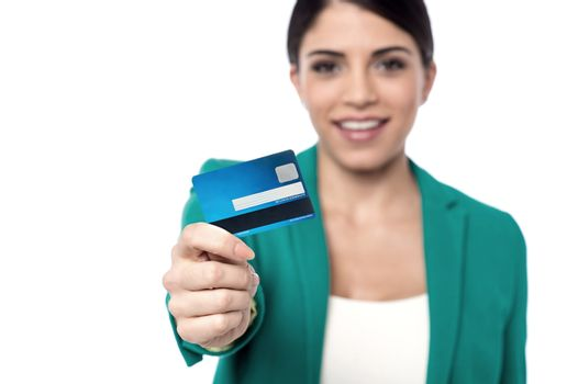 Here is your new credit card !