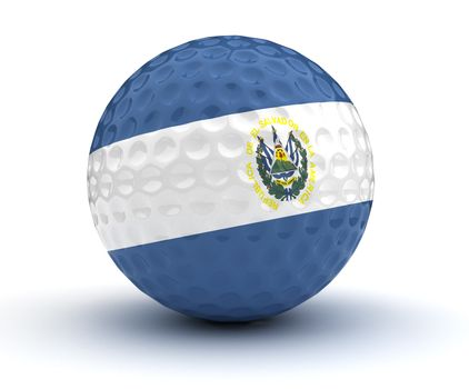El Salvador Golf Ball (Isolated with clipping path)