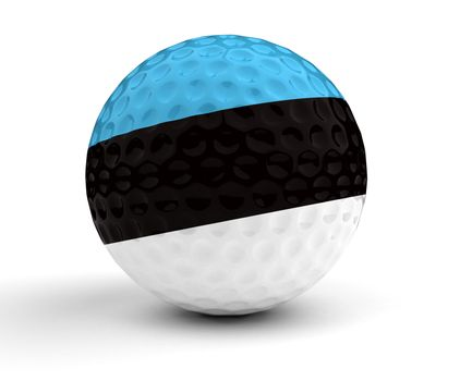 Estonian Golf Ball (Isolated with clipping path)