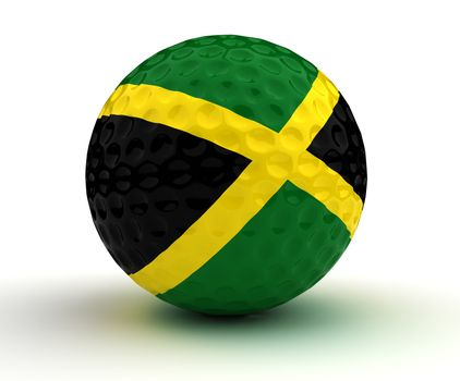 Jamaican Golf Ball (Isolated with clipping path)