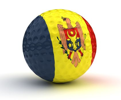 Moldovan Golf Ball (Isolated with clipping path)