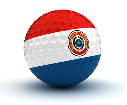 Paraguayan Golf Ball (Isolated with clipping path)