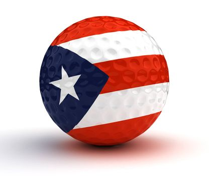 Puerto Rican Golf Ball (Isolated with clipping path)