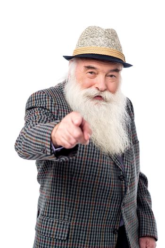 Senior man pointing towards you