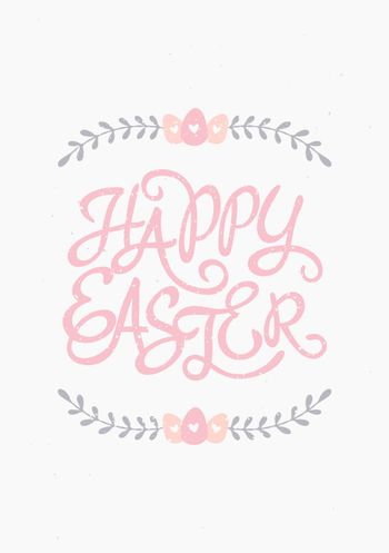 Easter Typographic Greeting Card Template