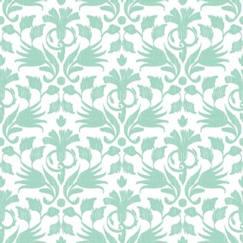 Vector abstract green ikat seamless pattern background graphic design