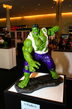 Bangkok - May 2: A Hulk model in Thailand Comic Con 2015 on May 2, 2015 at Siam Paragon, Bangkok, Thailand.