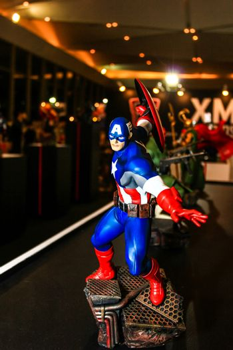 Bangkok - May 2: A Captain America model in Thailand Comic Con 2015 on May 2, 2015 at Siam Paragon, Bangkok, Thailand.