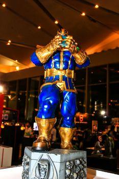 Bangkok - May 2: A  Thanos model in Thailand Comic Con 2015 on May 2, 2015 at Siam Paragon, Bangkok, Thailand.