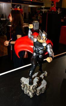 Bangkok - May 2: A Thor model in Thailand Comic Con 2015 on May 2, 2015 at Siam Paragon, Bangkok, Thailand.