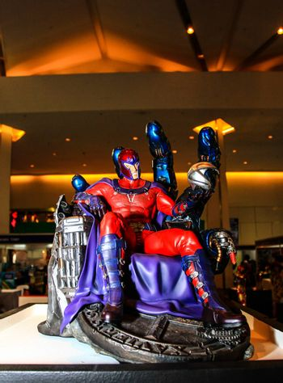 Bangkok - May 2: A Magneto model in Thailand Comic Con 2015 on May 2, 2015 at Siam Paragon, Bangkok, Thailand.