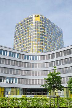 Vertical shot of ADAC emergency rescue association headquarters