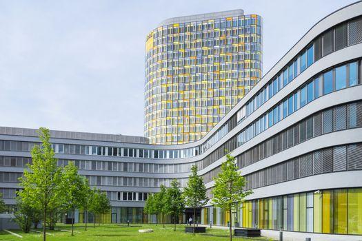 Modern office building of German automobile club ADAC