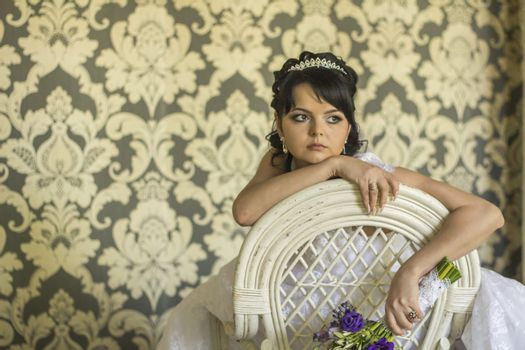 Sad beauty bride. For your commercial and editorial use