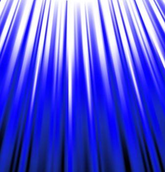 background of blue luminous rays.