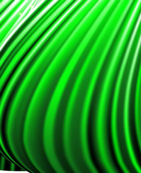 background of green luminous rays.