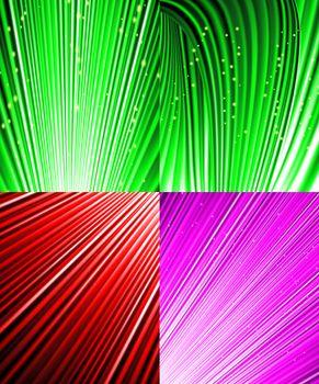 Set background of colourful luminous rays.