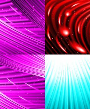 Set of background colourful luminous rays.