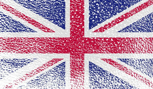 Flag of United Kingdom with old texture.