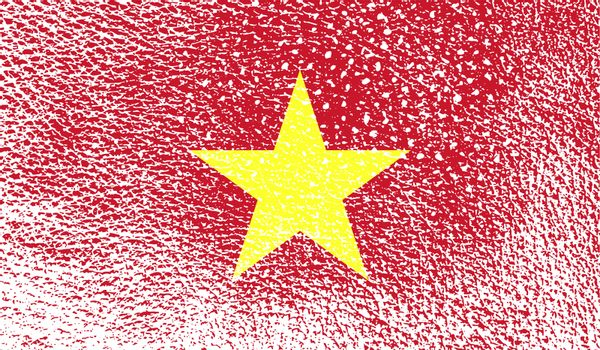 Flag of Vietnam with old texture.